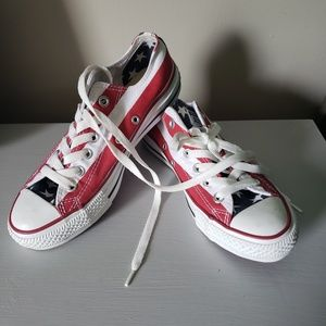 RED, white & blue Converse